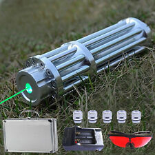 532nm Green Laser Pointer Pen Teaching-aid Laser Tool w/ 5 Star Cap+batt charger