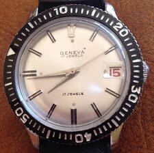 New Old Stock 17 Jewel  Automatic Geneva Divers Watch