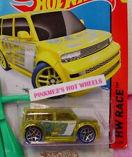 Case B/C 2015 Hot Wheels SCION xB #144∞Trans Yellow; Gold y5 blue∞X-Raycers