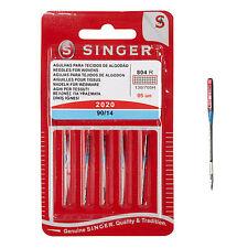 Agujas Singer 2020 90/14 para máquina de coser para coser algodón