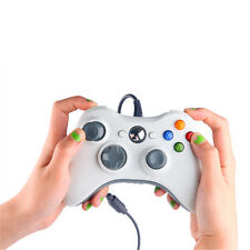 USB Wired Game Controller For Microsoft Xbox 360 Slim & PC New White Gamepad US