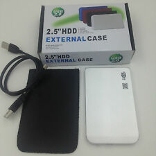 "New 250GB External USB 2.0 Portable 2.5"" Hard Drive Pocket Size Slim Free Silver"