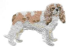 """2 1/4"""" x 3"""" Cavalier King Charles Spaniel Dog Breed Embroidery Patch Applique"""