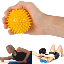 Msd PALLINA MASSAGGIO 8 CM GIALLA SPIKY mano piede yoga fitness Massage Ball