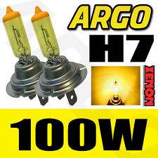 2 x H7 XENON YELLOW 499 100W BULBS MAIN DIPPED BEAM HEADLIGHT UPGRADE AMBER 12V