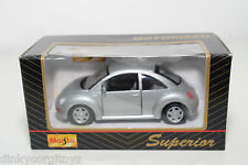 MAISTO SUPERIOR VW VOLKSWAGEN NEW BEETLE KAFER GREY MINT BOXED