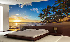 Island Beach, Sunset Wall Mural Photo Wallpaper GIANT WALL DECOR PAPER POSTER