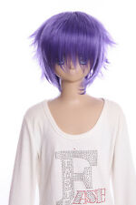 W-01-F13-3 Lila Purple 35cm COSPLAY Perücke WIG Perruque Haare Hair Anime Manga