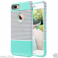for Apple iPhone 7 Plus Case Heavy Duty Shockproof Hybrid Armor Cover Mint Green