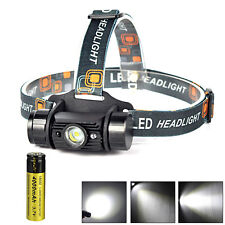 Infrared Sensors 3W LED USB Rechargeable Headlamp Head Light Torch+18650+Charger