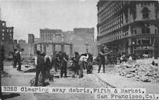 CPA ETATS UNIS D´AMERIQUE USA CALIFORNIA CLEARING AWAY DEBRIS FIFTH AND MARKET S