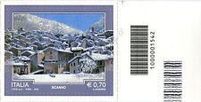 2013 francobollo Il Turismo: Scanno DX CODICE A BARRE 1542