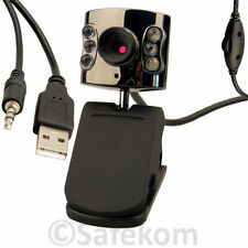 8MP Webcam Built In LEDs Plug Play USB 2.0 Connectivity VIdeo Recorder Function