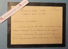 Henri CHANTAVOINE 1908 Ecrivain Lot 2 cartes cdv autographes Montpellier Caluire