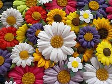 100! Handmade Mulberry Paper Daisy & Sunflower - Colour Mix Daisies 1.5-4cm/1.5""