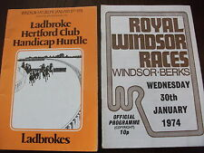 WINDSOR NH RACE CARDS, JANUARY 19TH & 30TH, 1974 - FRED WINTER, GAME SPIRIT
