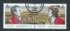 GUERNSEY 2012 WAR OF 1812 PAIR SIR ISAAC BROCK FINE USED
