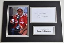 Ronnie Moran Signed Autograph A4 photo display Liverpool Football AFTAL COA