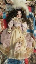 "ANTIQUE VICTORIAN 1900 GERMAN BISQUE KID BODY FLORADORA DOLL 20"" TALL"