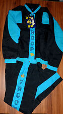 NWT VINTAGE 90'S WORLD OF TROOP HIP HOP WINDBREAKER TRACK SUIT JACKET PANTS L