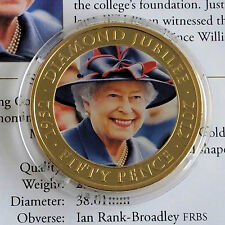 GUERNSEY 2012 DIAMOND JUBILEE PHOTO PORTRAIT PROOFLIKE 50p CROWN -coa