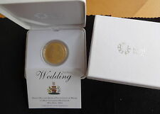 2011 silver proof plaqué or uk £ 5 coin boxs + coa prince william & kate