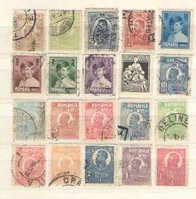 B8669 - ROMANIA 1907/28 - LOTTO ANTICHI USATI DIFFERENTI - VEDI FOTO