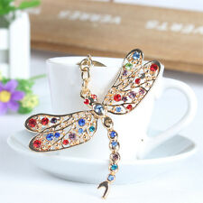 Dragonfly Angel Wing Love Pendent Rhinestone Crystal Key Ring Chain Accessories