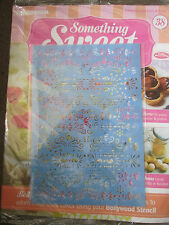 DEAGOSTINI SOMETHING SWEET MAGAZINE ISSUE 38 - WITH LARGE BOLLYWOOD STENCIL