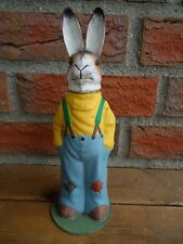 ANTIQUE EASTER GERMAN CANDY CONTAINER-PAPER MACHE-RABBIT-BUNNY-BELSNICKLE-DRGM-