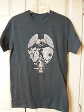 WHAT DO YOU WANT THEATRE ARTS DRAMA HEART WINGS T-SHIRT TEE GRAY NEW S