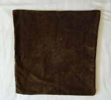 Hardware Restoration Throw Pillow Cover Dark Brown Chenille Zip Close 21X21 1642