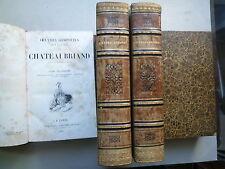 1834 OEUVRES COMPLETES DE M LE VICOMTE DE CHATEAUBRIAND 4 VOL CHEZ FURNE