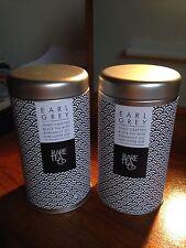Dos Raro compañía de té Earl Grey Tea Latas/Botes