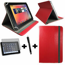 3in1 Set 8 Zoll 20,32 cm Medion Lifetab P8314 Tasche + Touch Pen + folie -  Rot
