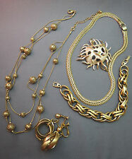 VTG Couture Lot Jewelry Napier Necklace Bracelet Earrings Gold Plated Sarah Cov