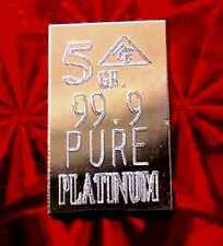 ACB Platinum PT BULLION MINTED PURE 5Grain  9.99 FINE
