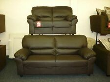 NEW RICH CANDY LEATHER 2 SEATER OR 3 SEATER OR CORNER SOFA SET SUITE BLACK BROWN