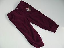 H&M Baby Girls Girl Cordaroy Burgundy Pants Size 2-3 Years NWT NEW