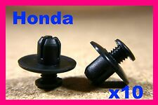 10 HONDA wheel arch flare lining clips splash guard trim fasteners 8mm