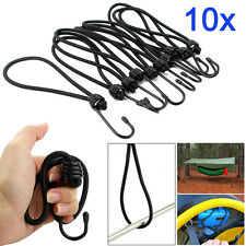 10x Heavy Duty Elastic Luggage Bungee Rope Cord Straps Hooks Stretch Tie Camping