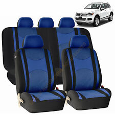 BLUE AIRBAG & SPLIT Bench SEAT COVERS 9pc SET for VW JETTA PASSAT