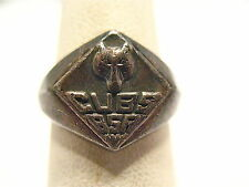 VINTAGE STERLING SILVER CUB SCOUT RING SIZE 5.5   3.8 GRAMS