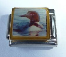 DUCK Italian Charm BR35  Black & White Bird Photo fits ALL 9mm Starter Bracelets