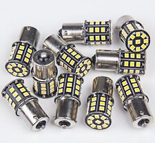 10x 1156 Warm White Camper Trailer RV 1141 1003 BA15S 33 LED Light Interior Bulb