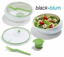 Black & Blum Lunch Bowl Food Pot in Lime & White