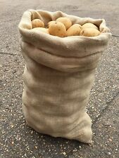 5 x 50kg Extra Large Hessian Jute Seed Potato Veg Storage Sacks Bags  (New)
