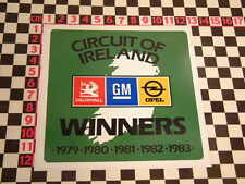 Circuit Ireland Rally Sticker for Ascona or Manta Autocollant Adesivo Aufkleber