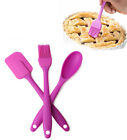 Silicone Spatula Spoon Brush 3pcs Set Kitchen Cooking Pastry Baking Mixing Tools