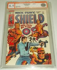 NICK FURY AGENT OF SHIELD #12 EGC GRADED ( 8.5 ) WHITE PAGES EURO GRADER